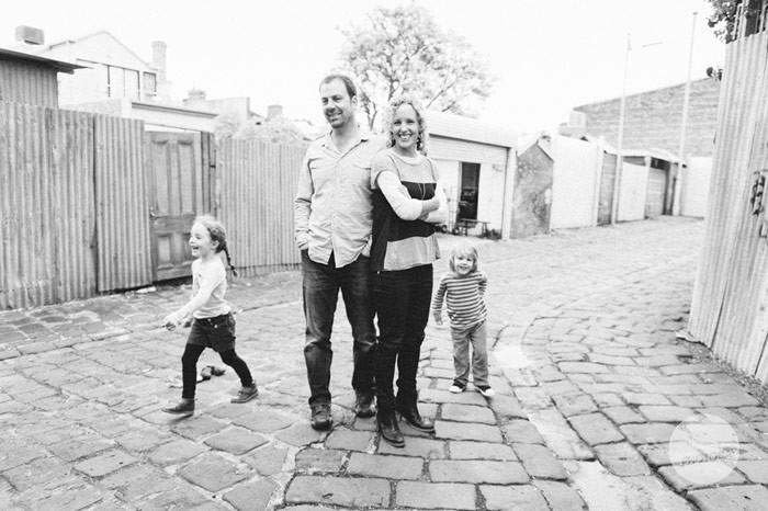 Rhian, Mark, Georgie and Charlie   Family Portrait Carlton