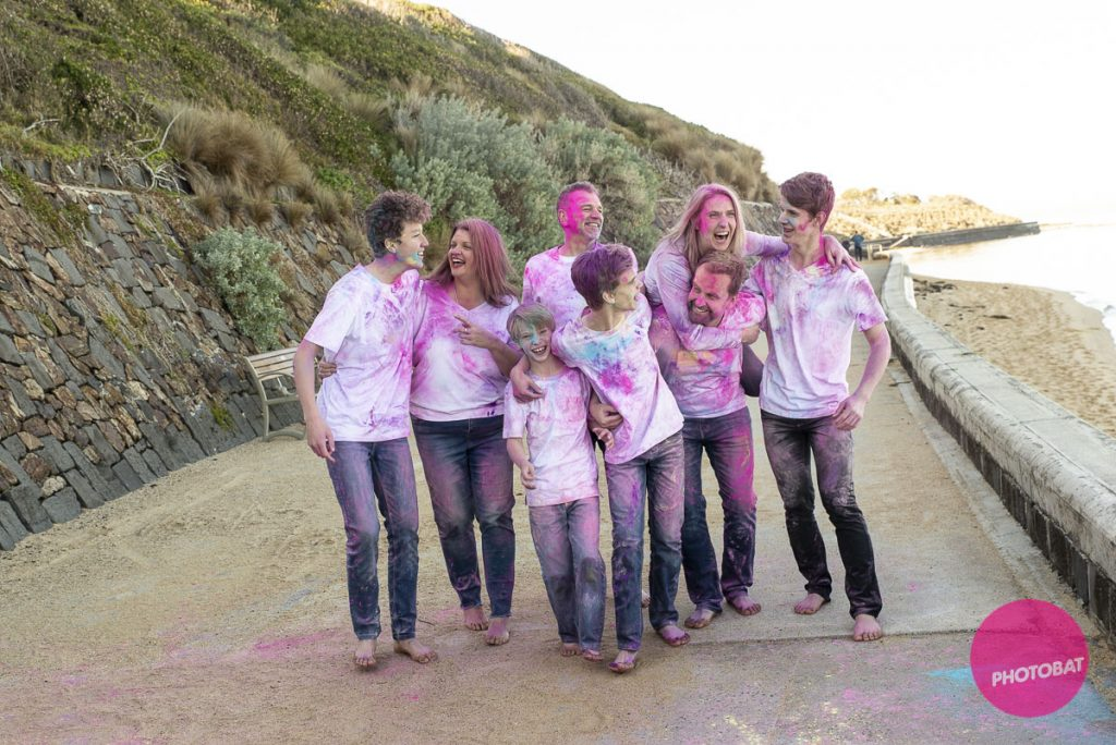 Colour, so much colour | Fun Family Portrait Bayside Melbourne