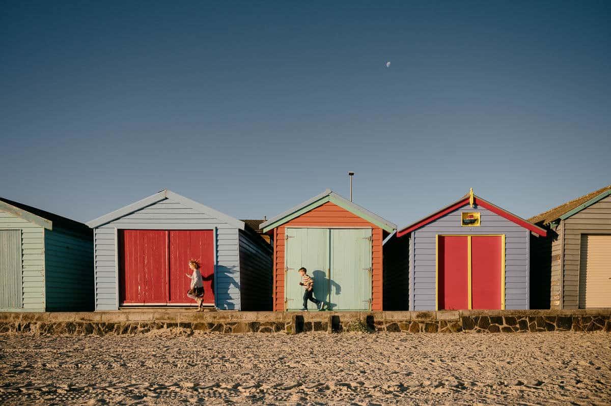 edithvale beach boxes Melbourne family photographer